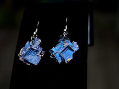 Bismuth Crystal Earrings Beautiful by bismuthcrystalarts on Etsy, $17.99