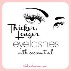 A simple tip for naturally longer and thicker lashes. via The How To Mom #beauty