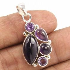 Started in SUNRISE JEWELLERS (Indian Silver Jewellery Us has flourished into one of the top manufacturers & exporters for gemstone studded silver jewelry & Sterling silver jewelry without gemstones. Amethyst Pendant, Amethyst Gemstone, Purple Amethyst, Gemstone Rings, Silver Jewellery Indian, Silver Pendants, Handmade Silver, Sterling Silver Jewelry, Jewels