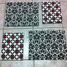 Fabric covered canvas set