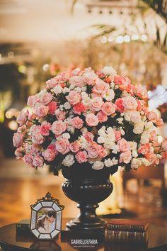 decoração de casamento no tom rosa