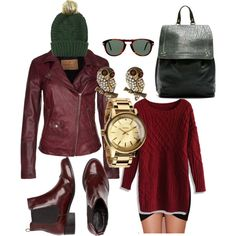 """Winter Gone Oxblood"" by em-pee on Polyvore"