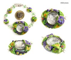 LOVE THESE!!! Bracciale in Verde e Viola 1 | Flickr - Photo Sharing!