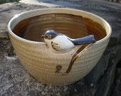 Little Bird Yarn Bowl, Budgie Yarn Bowl, Parakeet Yarn Bowl. $45.00, via Etsy.