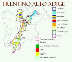 Italian wine regions : Trentino Alto-Adige