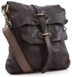 Campomaggi Lavata Shoulder Bag Leather dark-brown 28 cm - C1256VL-1701 | Designer Brands :: wardow.com