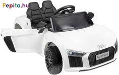 A Funfit Kids BMW X6 M F16 elektromos autó tökéletes ajándék minden gyermek számára! Gyermeked maga vezérelheti az autót, te pedig távirányítóval rendelkezel, így segítve gyermeked, ha esetleg nem tudná még irányítani a járgányt. A vezetési élményt tovább fokozzák a beépített dallamok és a külső forrásból származó hang csatlakoztatásának képessége, lehetősége! Nagyon szórakoztató nem csak a fiúknak, hanem a lányoknak is.     Jellemzői:  - Audi logóval  - Akkumulátor 2x 6V 4.5Ah  - Két 2x… Audi R8, Products, Autos, Gadget