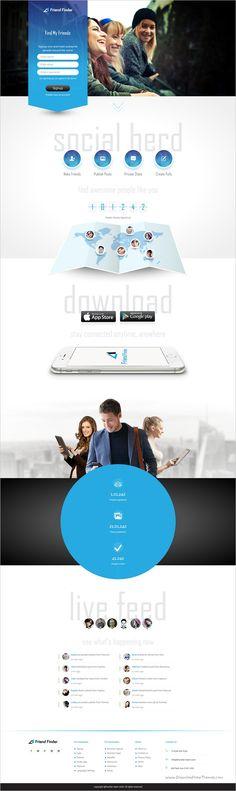 32 Best Social Network Template Website Images
