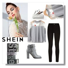 """shein"" by fatmafatma123 ❤ liked on Polyvore featuring Paige Denim and Valentino"