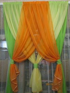 Beautiful ways to hang curtains Wedding Stage Decorations, Festival Decorations, Hanging Curtains, Diy Curtains, Rideaux Design, Mehndi Decor, Beautiful Curtains, Creation Deco, Colorful Curtains