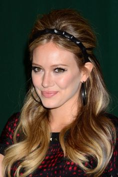 Hilary Duff half up hairstyle- have a jeweled hair band