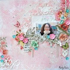 XOXO- LE kit May 2015 by My Creative Scrapbook featuring LemonCraft, Prima Marketing, Blue Fern, Marion Smith  http://mycreativescrapbook.com/
