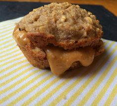 Clean Eating Banana Honey-Oat Muffins with All-Natural Peanut Butter