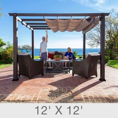 6 Easy Pergola Kits Tips .ovely piece of landscape architecture and it is extr. 6 Easy Pergola K Wood Pergola Kits, Cedar Pergola, Wooden Pergola, Backyard Pergola, Gazebo, Pergola Ideas, Pergola Shade, Outdoor Pergola, Patio Ideas
