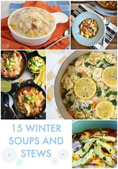 I've been on a big soup kick lately because of my new Insta Pot Pressure Cooker! To help inspire you to try some new recipes, here are… 15 Winter Soups and Stews from this week's Best Friday Features Best Soup Recipes, World Recipes, Salad Recipes, Chicken Recipes, Favorite Recipes, Yummy Recipes, Slow Cooker Recipes, Cooking Recipes, Chicken Corn Chowder