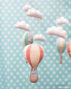 Heißluftballon Mobile DIY-KIT Kinderzimmer von FeltOnTheFly auf Etsy
