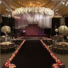 This beautiful wedding at the @BeverlyWilshire is up today on our blog (link in bio)! We worked with @RevelryEventDesign and @EmptyVase to create this romantic and extravagant wedding that our couple dreamed up.  The centerpiece and focal point for the evening was without a doubt, the crystal and ribbon Chuppah. Lighting: @Images_Lighting   Rentals: @PalacePartyRental   Photo: @CurtisDahl