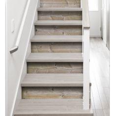 rénover l'escalier - contremarche bois - imitation bois - contremarche finition bois