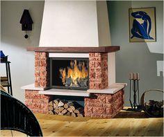 Современные дровяные камины и их основные особенности
