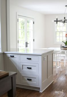 Bayberry Kitchen Remodel Reveal - Inspired by Charm Kitchen Makeover Kitchen Nook, Home Decor Kitchen, Kitchen Interior, Home Kitchens, Kitchen Design, Kitchen Ideas, Kitchen Colors, Country Kitchen, Ikea