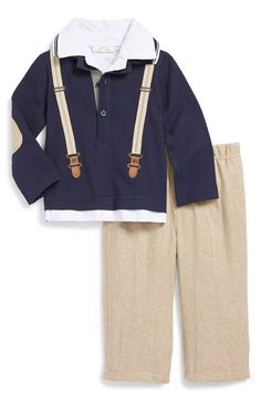 Free shipping and returns on Miniclasix Shirt & Pants (Baby Boys) at Nordstrom.com. Give your little guy a preppy look in a long-sleeve shirt designed with embroidered suspenders and paired with coordinating tweed-patterned pants.
