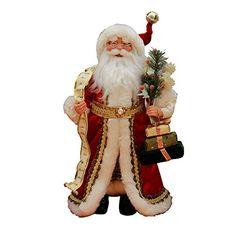 "16"" Inch Standing Red Santa Claus Christmas Figure Figurine Decoration 41603. #SantaClaus #Santa #Claus #Christmas  #Figurine #Decor #Gift #gosstudio .★ We recommend Gift Shop: http://www.zazzle.com/vintagestylestudio ★"