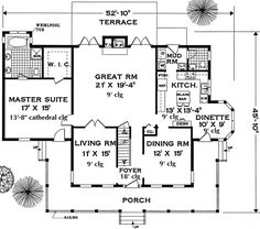 Southern Plan: 2,658 Square Feet, 5 Bedrooms, 3.5 Bathrooms - 033-00057
