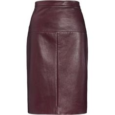 Luxe fabrics have always been an Eudon Choi forté and this super soft, dark plum leather pencil skirt is a new season must-have. The midi length is the current…
