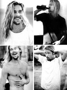 Brad Pitt Long Hair Blonde | 15. Viggo Jonasson's Dark Long Hair Style with Highlights