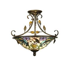 Found it at Wayfair - Crystal Peony 2 Light Semi Flush Mount