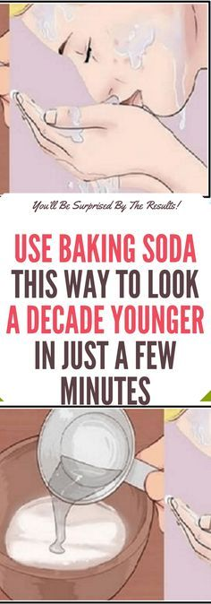 Use Baking Soda This Way to Look a Decade Younger in Just a Few Minutes.. Read this!