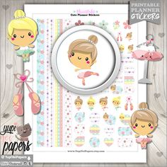 Ballerina Planner Stickers by www.YupiYeiPapers.Etsy.com