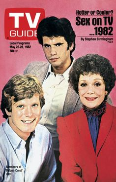 Falcon Crest....on the cover of TV Guide, May 22, 1982 = Cole, Lance and Angela (William R. Moses, Lorenzo Lamas and Jane Wyman)