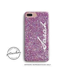 Glitter Personalize Phone Case - iPhone 7 Case - iPhone 7 Plus Case - iPhone 6 Case - iPhone 8 Case - iPhone X Case - iPhone 8 Plus Case by PetrichorCases on Etsy Iphone 8 Plus, Iphone 8 Cases, Personalized Phone Cases, 6s Plus Case, For Facebook, Design Case, Etsy