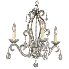 Inexpensive cute chandelier at Lowe's