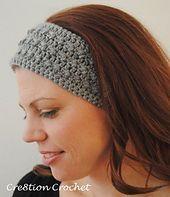 Ravelry: Sleek and Skinny Ear Warmer/ Headband pattern by Lorene Haythorn Eppolite- Crochet. - Crochet and Knit Crochet Headband Pattern, Knitted Headband, Crochet Headbands, Mode Crochet, Knit Crochet, Crochet Granny, Crochet Scarves, Crochet Clothes, Crocheted Hats