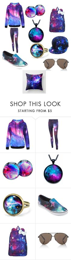 """""""Galaxy"""" by puppy-love8569 ❤ liked on Polyvore featuring Vans, SANRIO, KBETHOS and Victoria Beckham"""