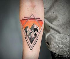Chris Rigoni Tattooer x Mountain x Orange x Montagnes.