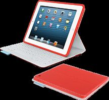 The FabricSkin Keyboard Folio provides complete The fabric cover repels liquids and prevents stains; the full-size keyboard makes it easy to FabricSkin folio protects both sides of your iPad from spills and stains. Built-in Bluetooth keyboard helps you get the most out of your iPad. Learn more now.