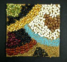 bean mosaics healthy eating unit. 3rd grade