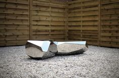 Arik Levy, awesome stuff Polished stainless steel bench, facted