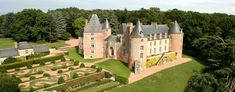 Chateau de Blancafort was built in the Loire Valley in 1453 with Roman-style turrets and a French Baroque façade added two hundred years later. Loire Valley, Luxury Property For Sale, French Property, French Chateau, Kirchen, Luxury Real Estate, Versailles, Country Life, Country Living