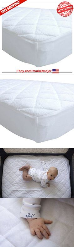 100/% Waterproof 2 Pack Quilted Fitted Crib Mattress Protector Soft Breathable Organic Bamboo Baby Waterproof Mattress Pad Natural Hypoallergenic Vinyl Free Mattress Cover for Stains Dust Mite Proof