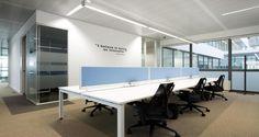 Open space nos escritórios da SAP em Lisboa, Portugal