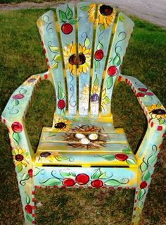 SAMPLE  Outdoor Chair by ArtziFartzi on Etsy, $175.00
