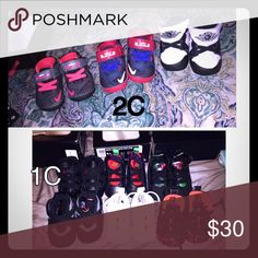 Baby shoes Brand new newborn on bottom 2C on top 30$ a piece Jordan Shoes Sneakers