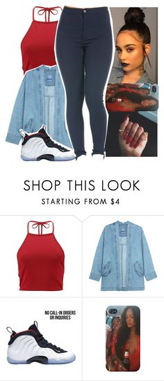 """""""sicker than you boo😚"""" by aribearie ❤ liked on Polyvore featuring Boohoo, Steve J & Yoni P and NIKE"""