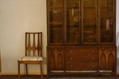 Midcentury Modern Dining Room Hutch, Table and Chairs ...