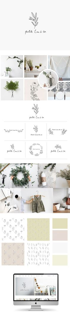 Branding and illustration for Petite Lou by Ryn Frank www.rynfrankdesign.co.uk