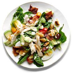Club Salad ❤ liked on Polyvore featuring food, food and drink, comida, comida e bebida and filler